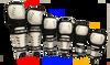 H-5 Shin Guards (White)