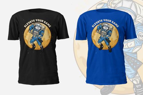 Broomball Astronaut T-Shirt