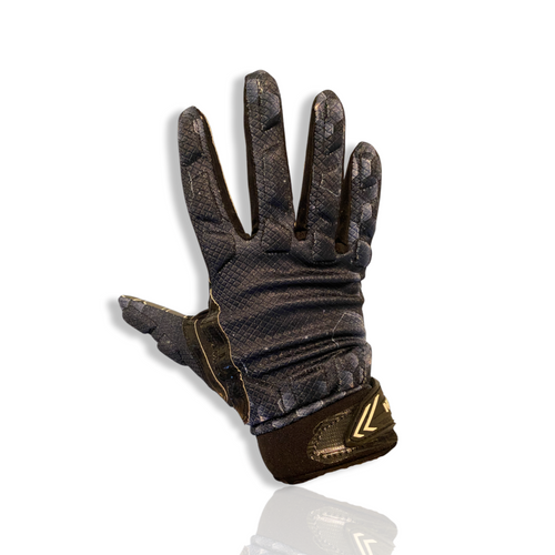 H-2 Football Gloves (Black Hex Design)