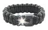 Paracord bracelet with built-in LED light