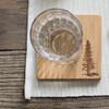 Bambu Pine Tree Coasters - Set of 4