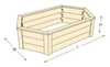 Hexagon Raised Garden Bed with Trim