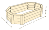 Octagon Raised Garden Bed with Trim