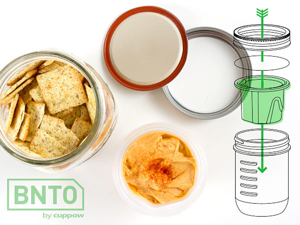 BNTO Canning Jar Lunchbox Adaptor