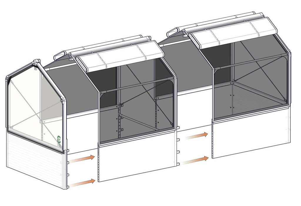 """GrowCamp Extension Module for 4' x 4' x 12"""" with 3' High Frame"""