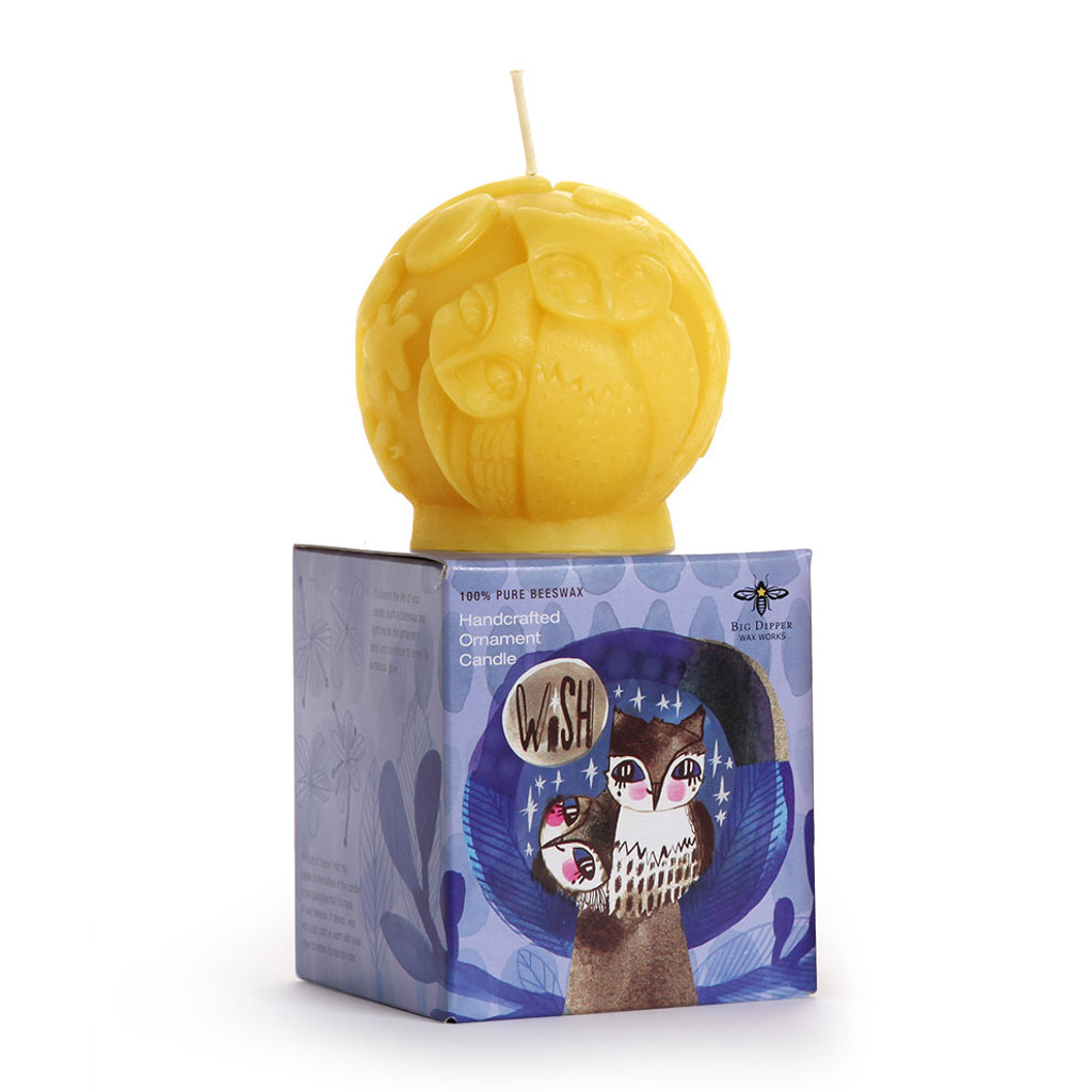 Wish Beeswax Ornament Candle