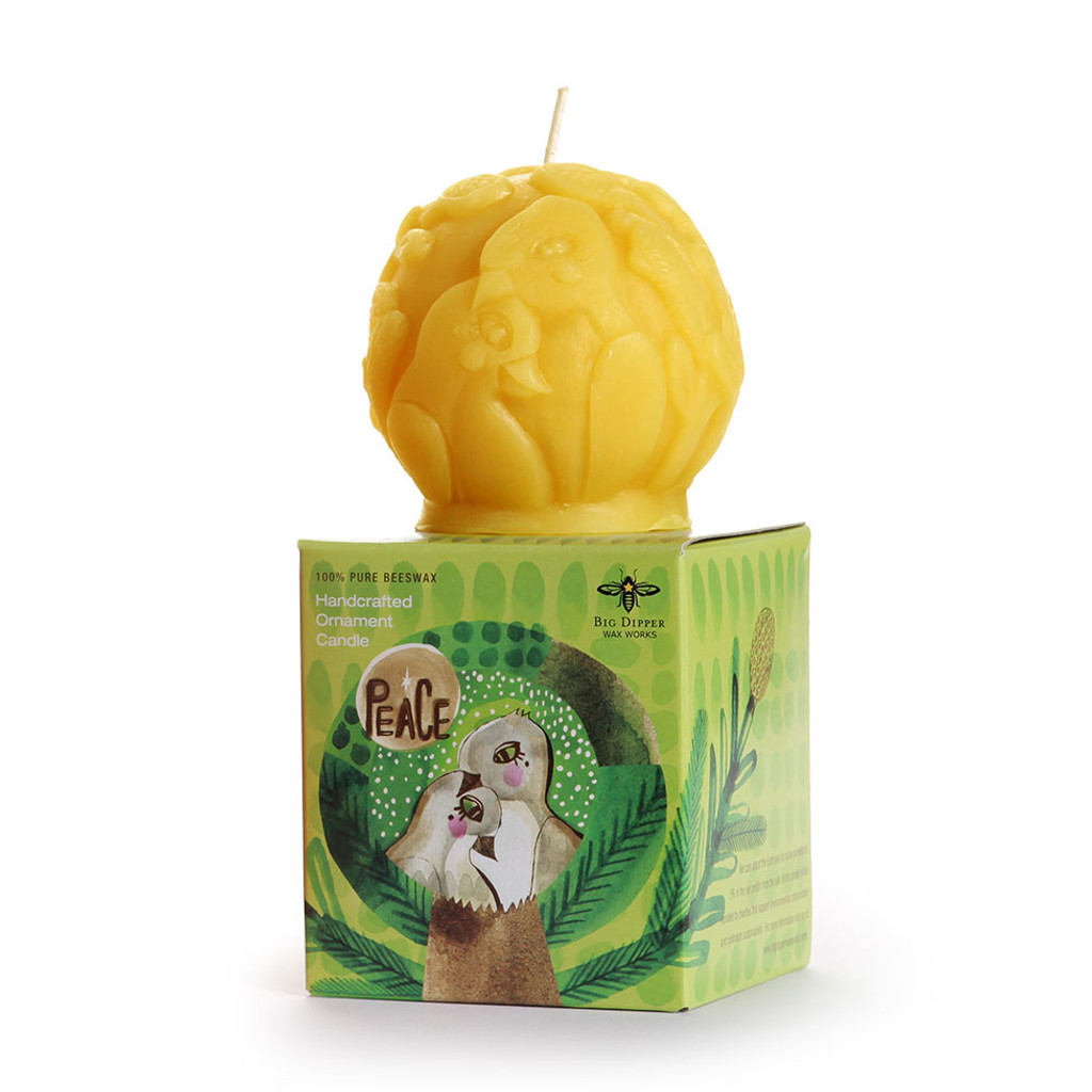 Peace Beeswax Ornament Candle
