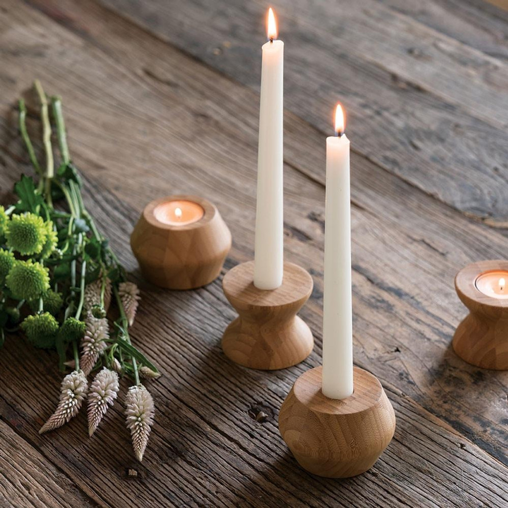 Reversible Bamboo Candle Holder