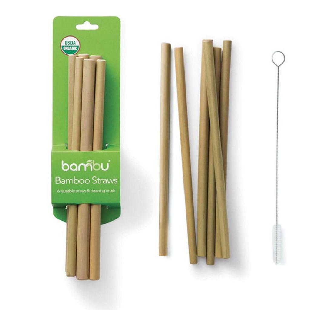 Bamboo Straws 6-Pack