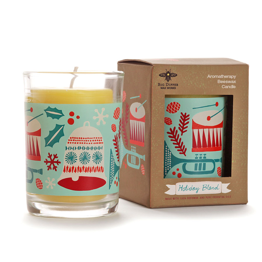 Holiday Aromatherapy Beeswax Candle