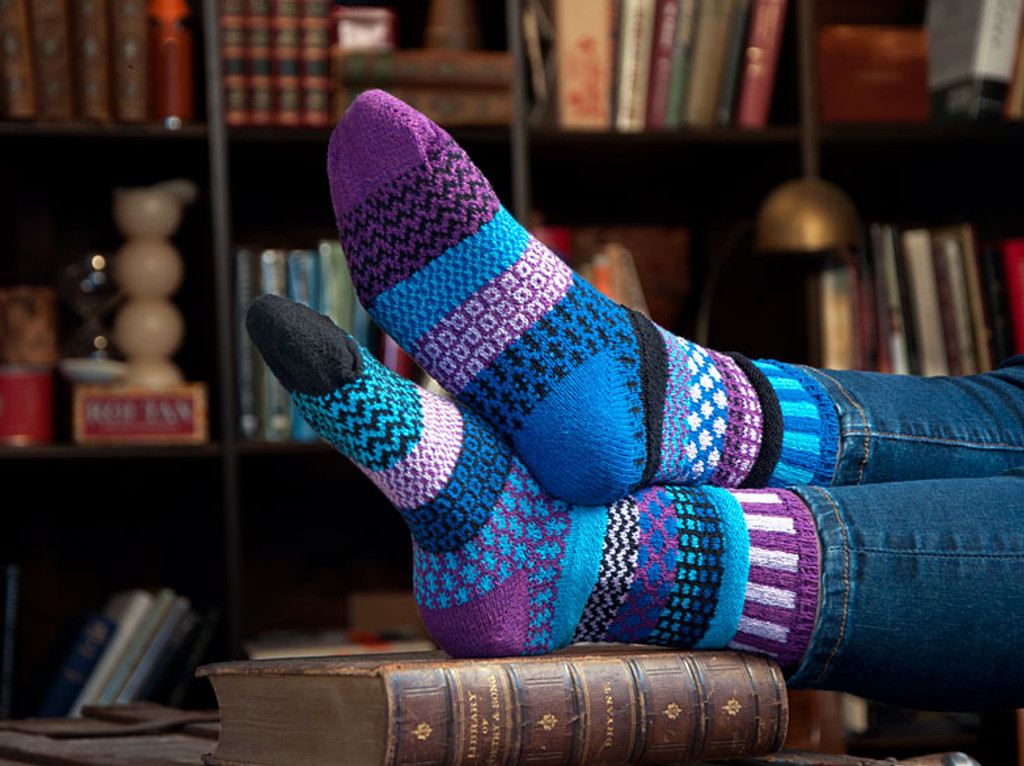 Raspberry Recycled Cotton Socks
