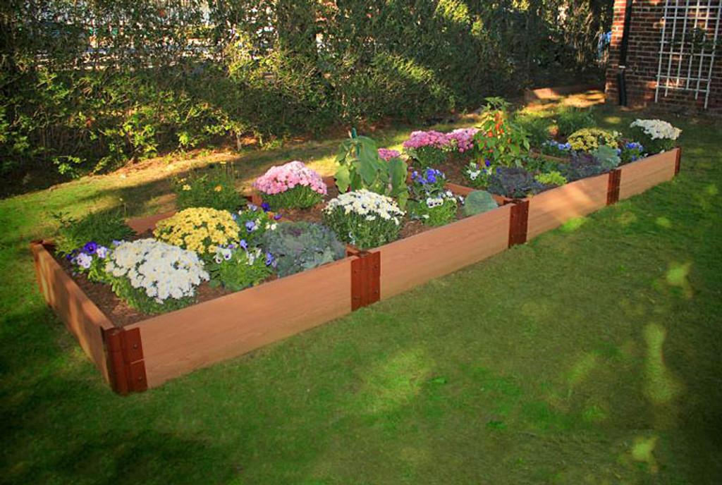 "Composite Raised Garden Bed - 4' x 16' x 12"""