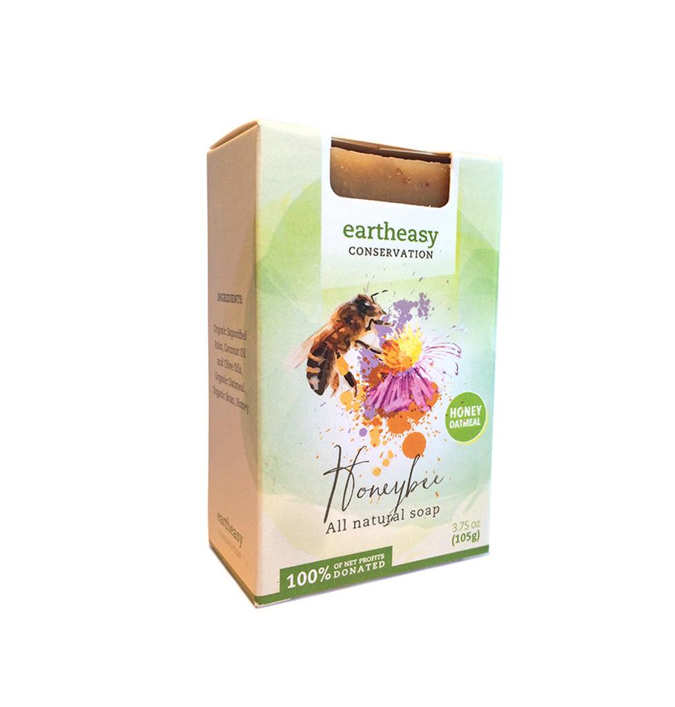 Eartheasy Honeybee Bar - Honey Oatmeal Soap