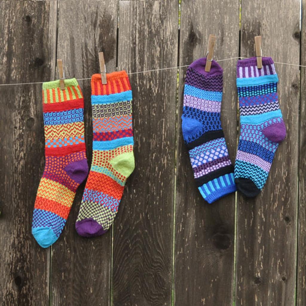 Cosmos & Raspberry Socks