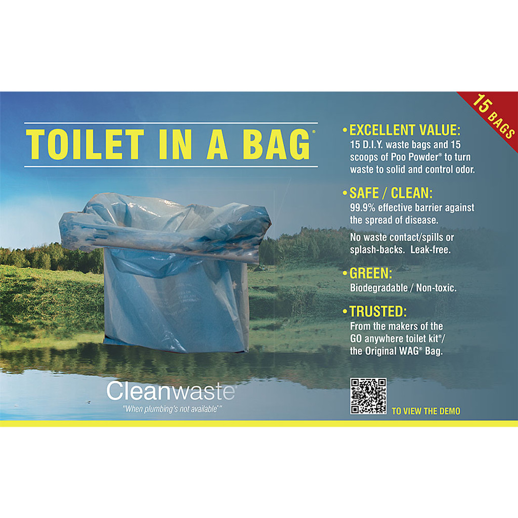 Toilet In A Bag - 15 Pack