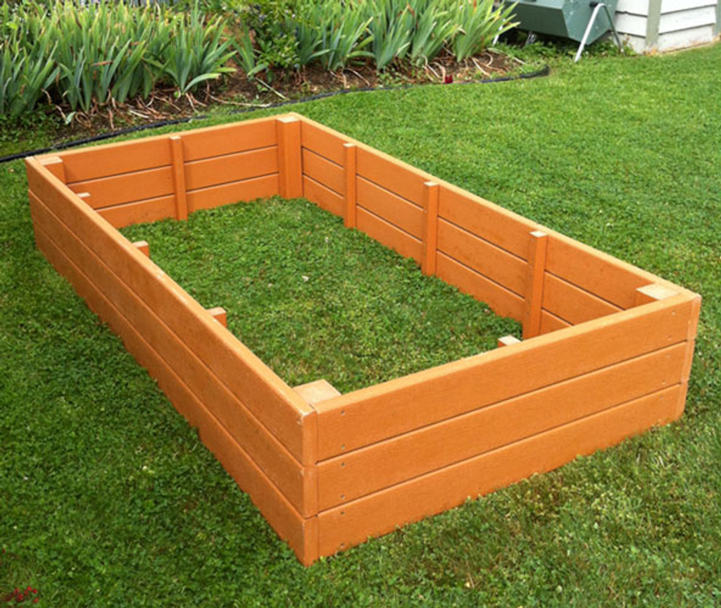 """Recycled Plastic Raised Garden Bed - 4' x 8' x 11"""""""