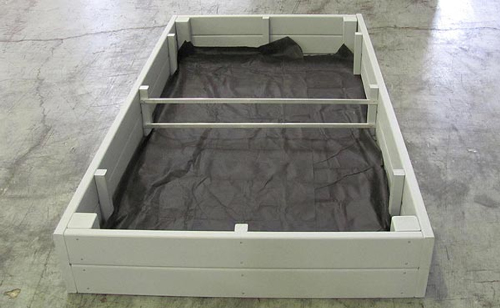 Recycled Plastic Raised Garden Bed - 4' x 8' x 16.5""