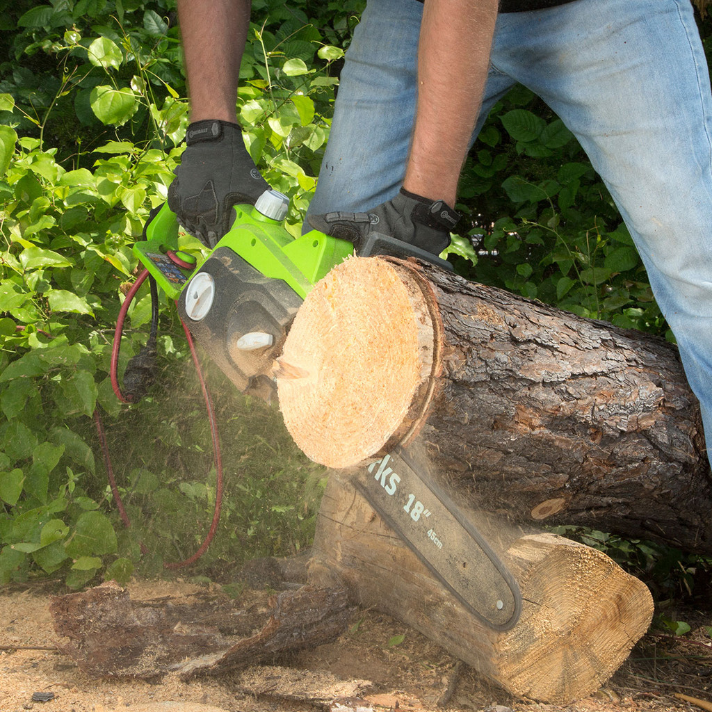 """Greenworks 18"""" 14.5 Amp Electric Chain Saw"""