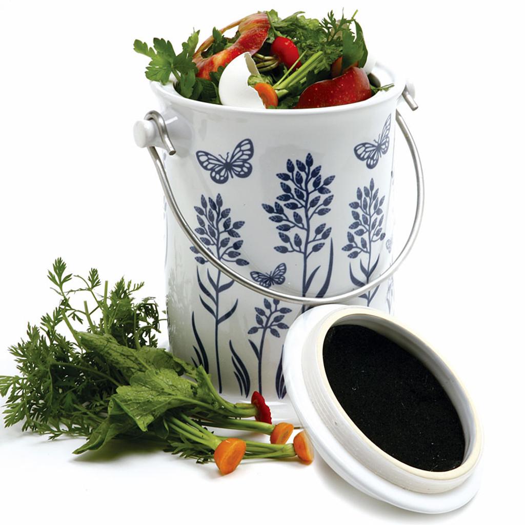 Decorative Ceramic Compost Keeper