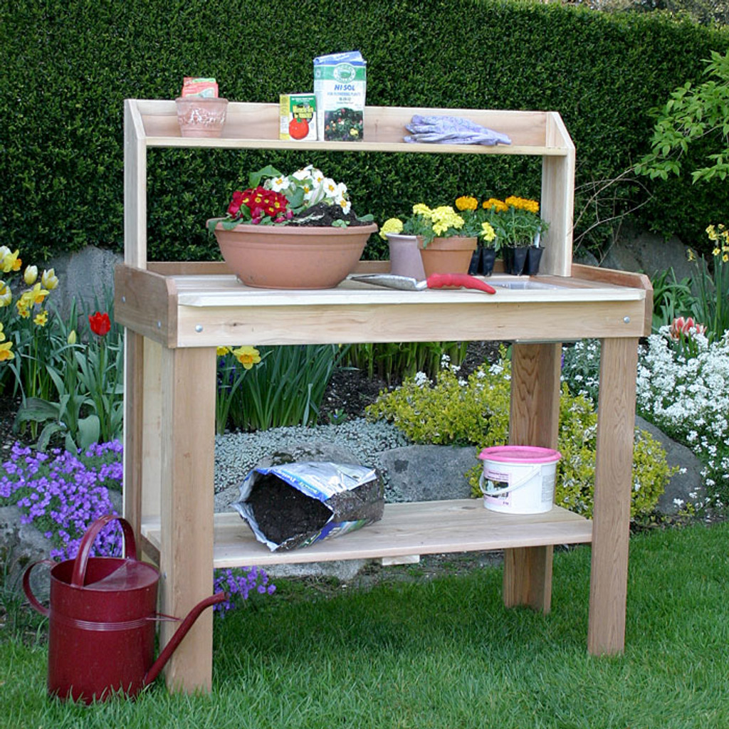 4' x 2' Cedar Potting Bench