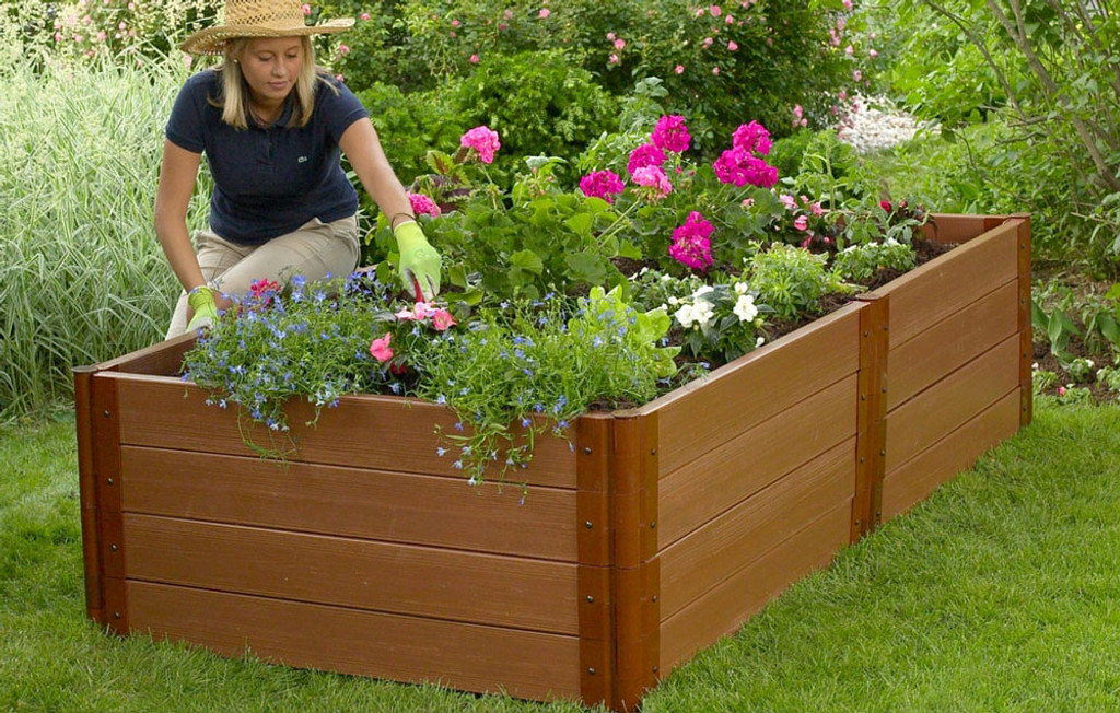 Composite Raised Garden Bed - 4' x 8' x 22""