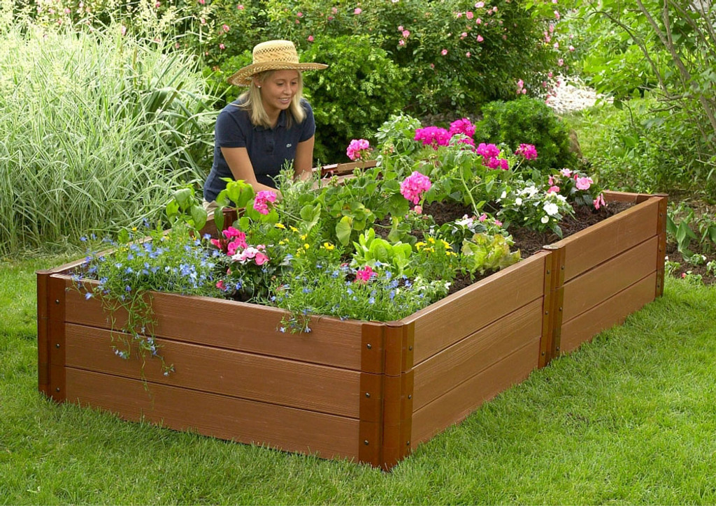Composite Raised Garden Bed - 4' x 8' x 16.5""