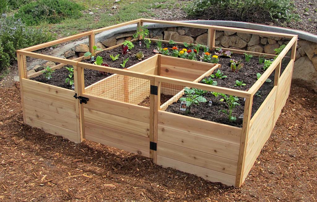 "Cedar Complete Raised Garden Bed Kit - 8' x 8' x 20"""