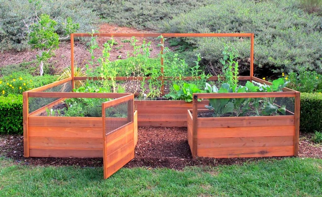 "Cedar Complete Raised Garden Bed Kit - 8' x 12' x 20"""