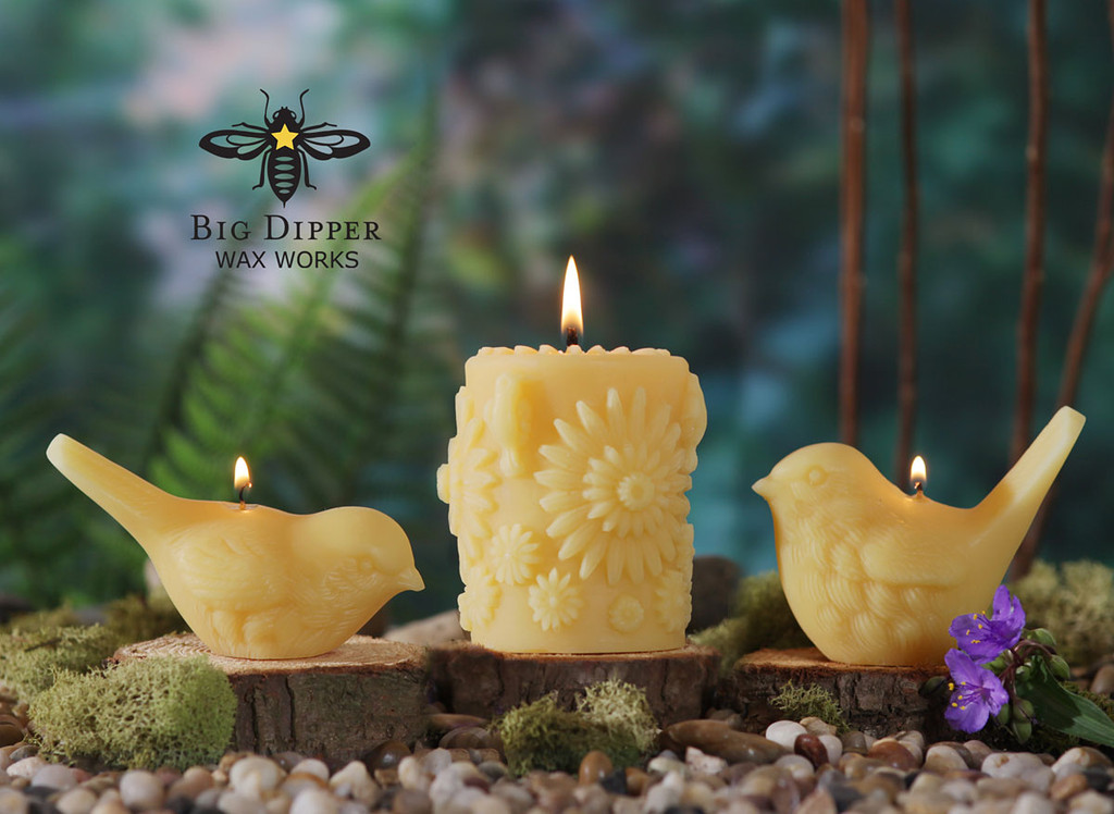 Beeswax Song Bird Candles