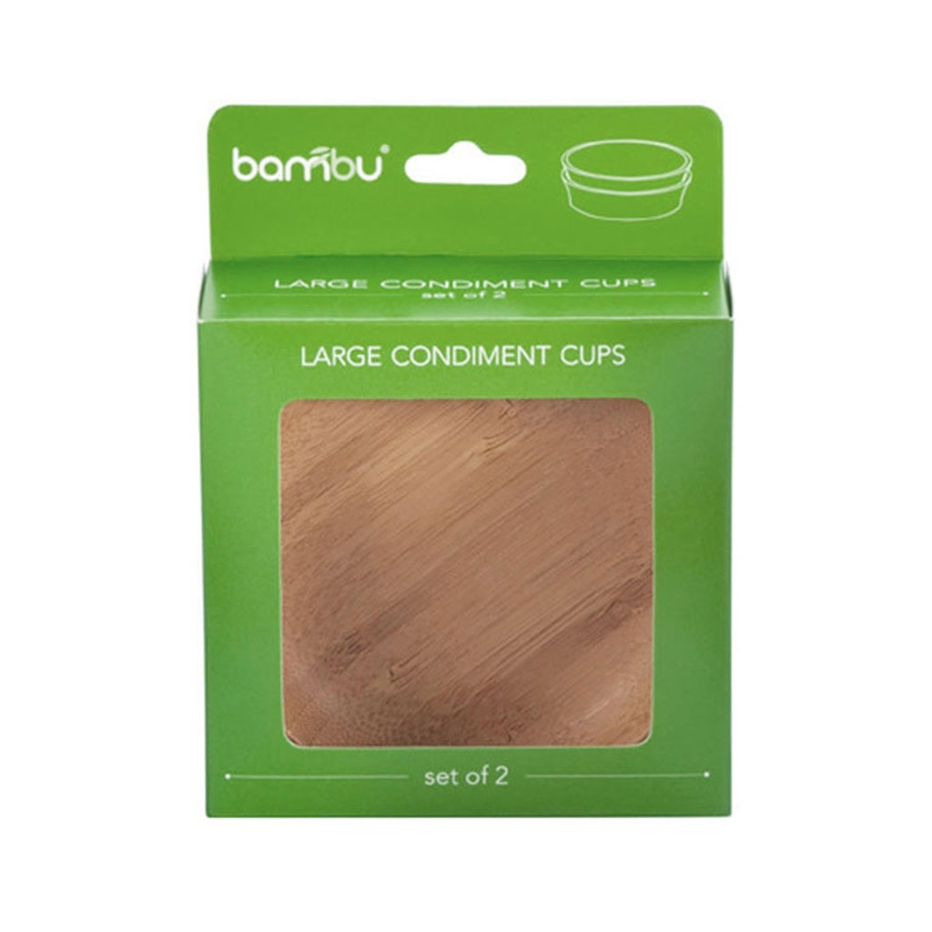 Bamboo Condiment Cups 2-Pack
