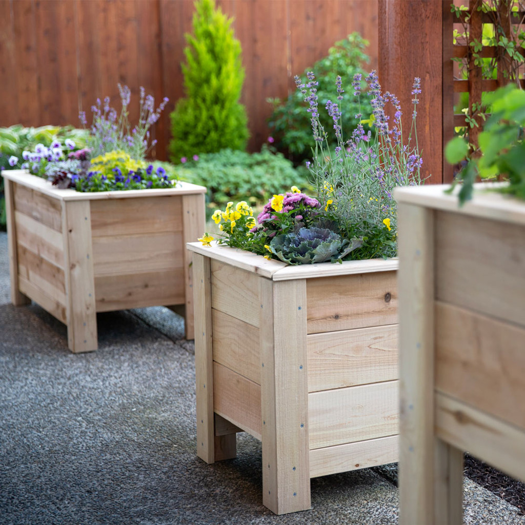 Natural Cedar Planter Boxes