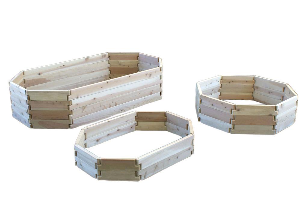 Natural Cedar Octagon Raised Garden Beds