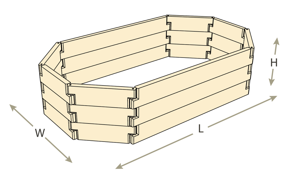 Natural Cedar Octagon Raised Garden Beds