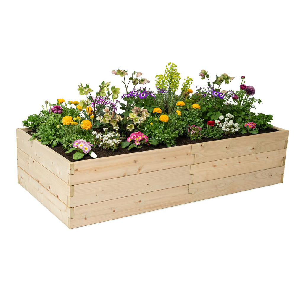 Rectangle Raised Garden Bed Without Trim Pack