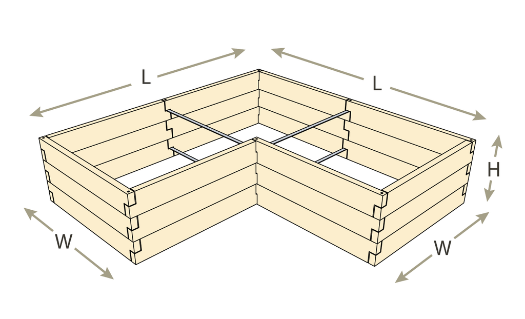 L-Shaped Raised Garden Bed