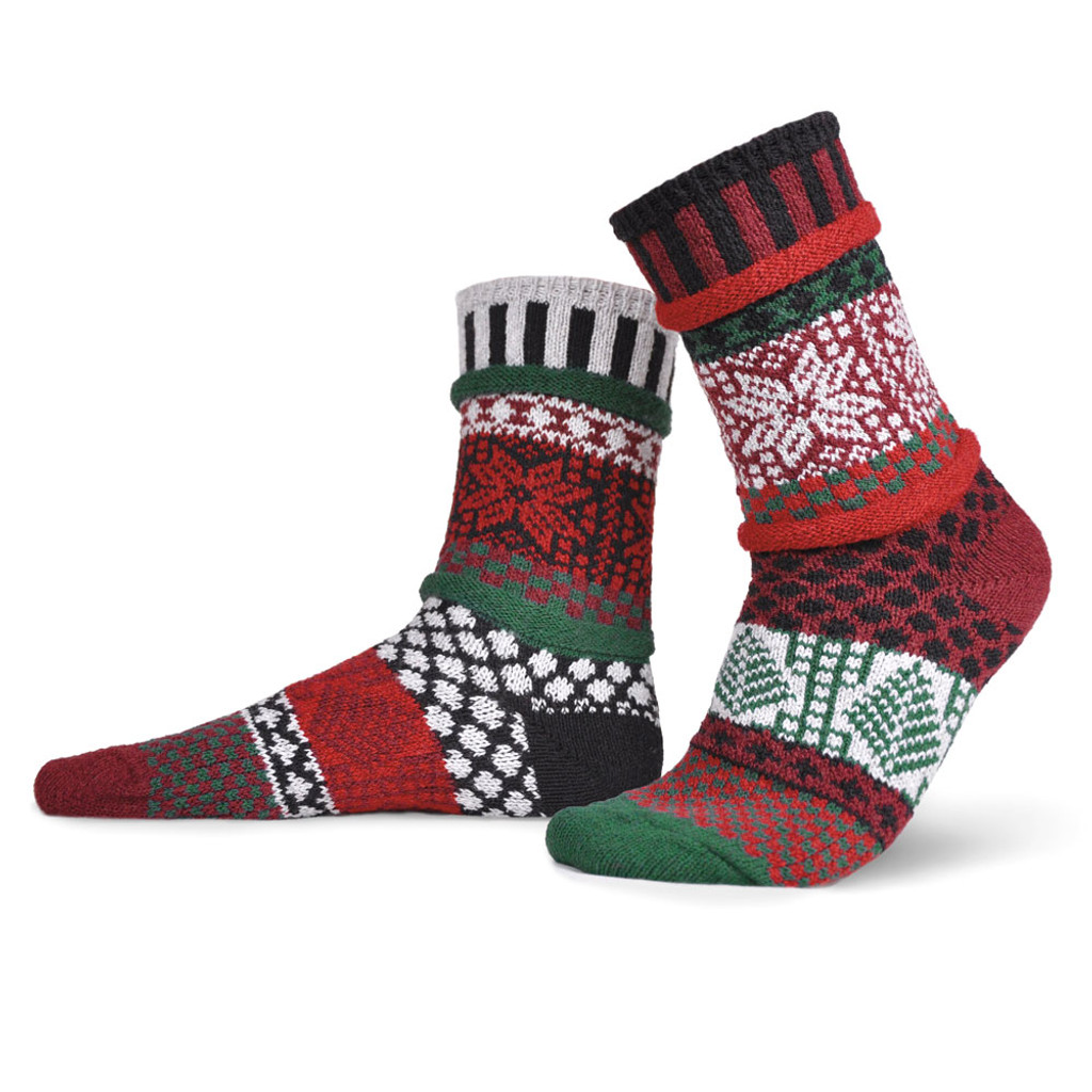 Poinsettia Recycled Cotton Socks