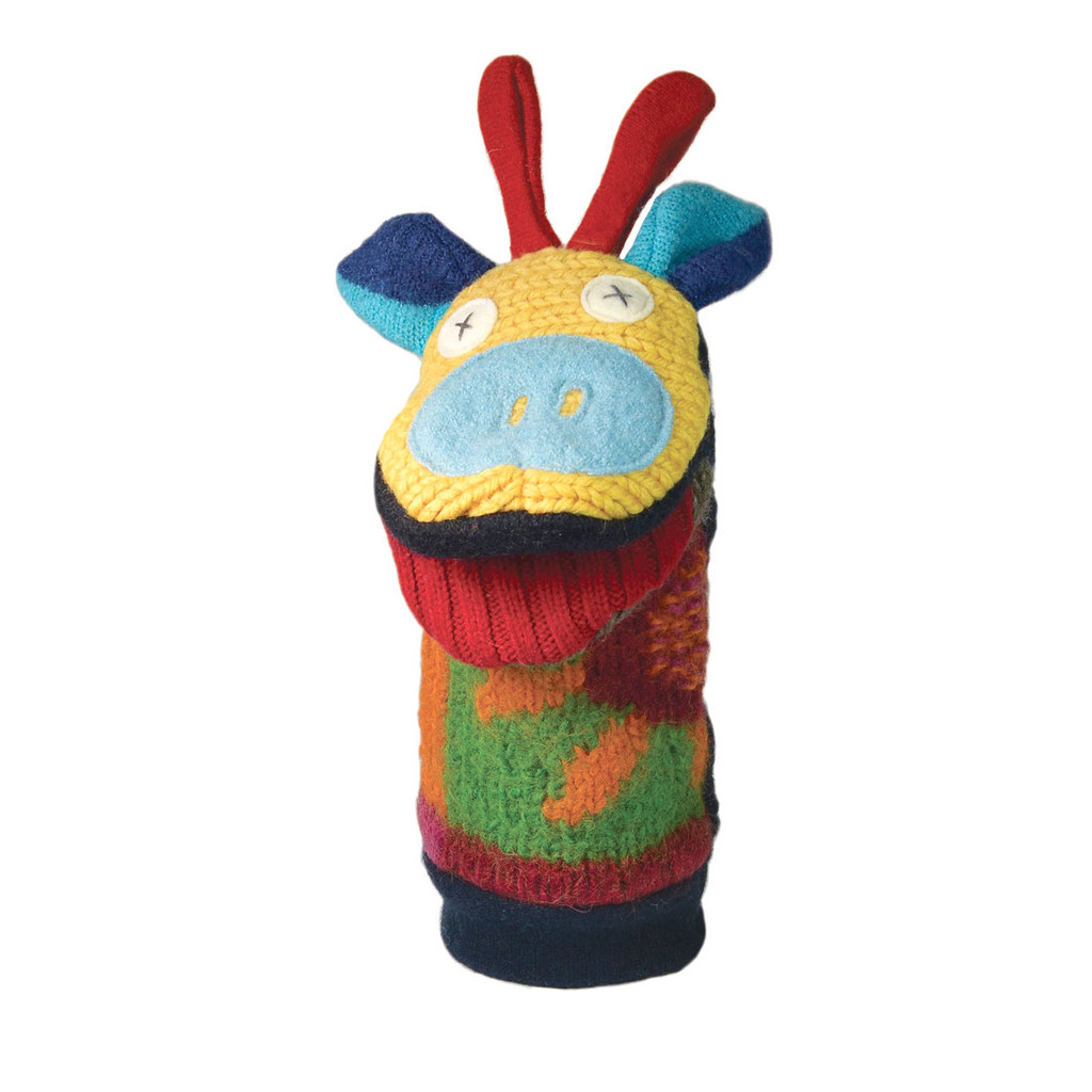 Recycled Wool Animal Puppets