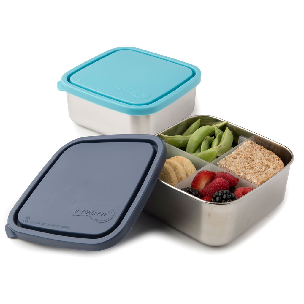 Divided Stainless Steel To-Go Container - Medium