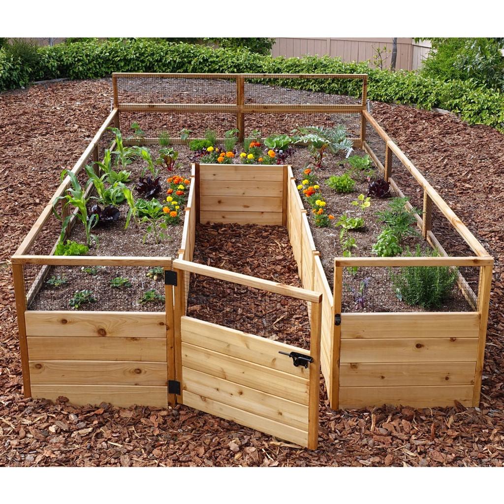 Cedar Complete Raised Garden Bed Kit - 8' x 12'
