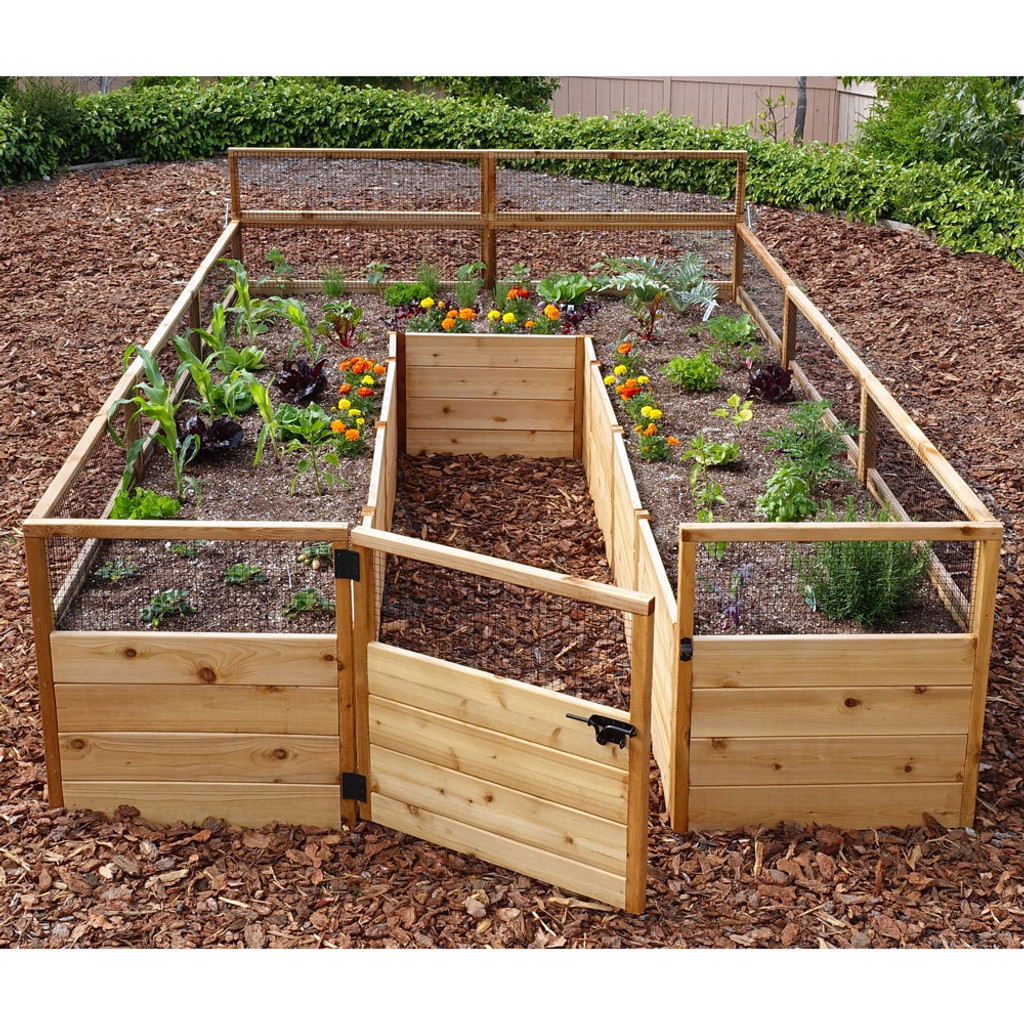 Cedar Complete Raised Garden Bed Kit - 8' x 12'