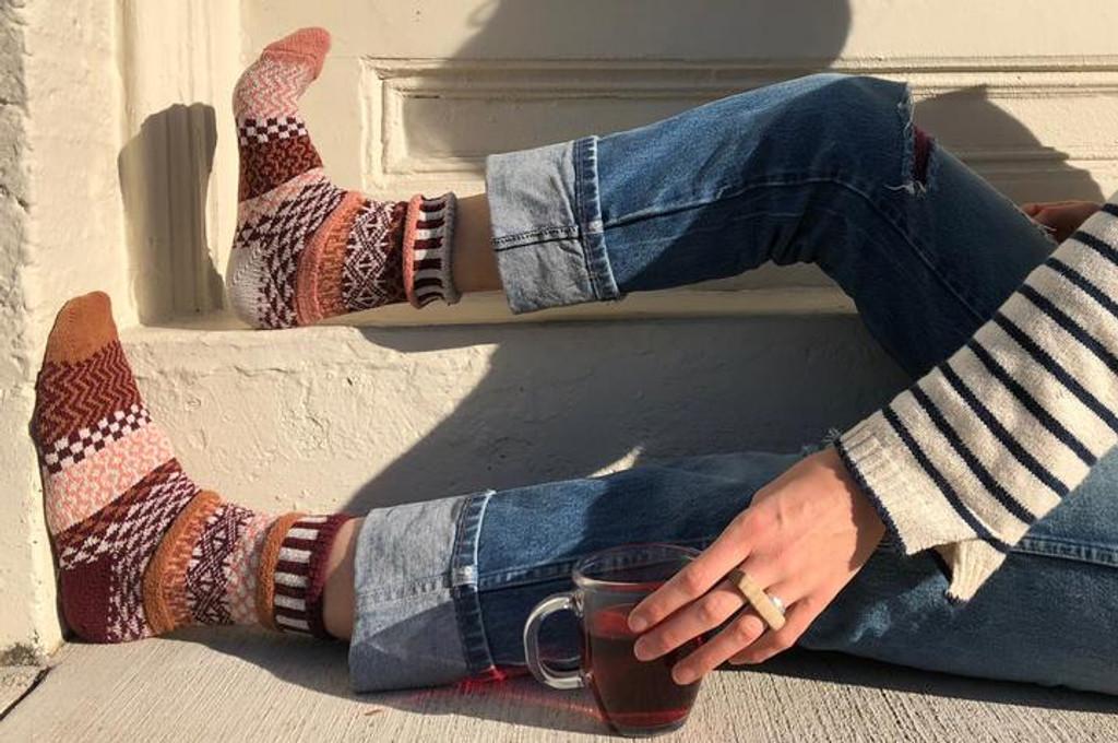 Amaranth Recycled Cotton Socks