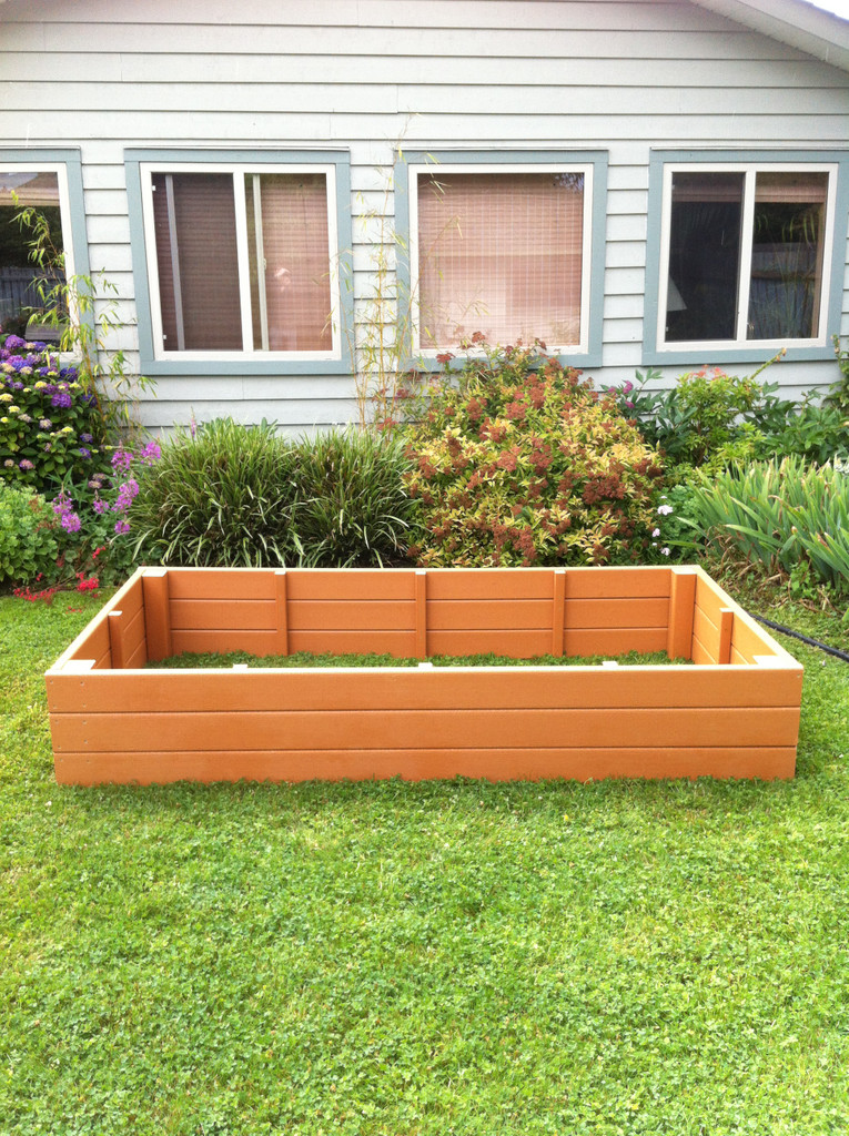 """Recycled Plastic Raised Garden Bed - 4' x 6' x 16.5"""""""