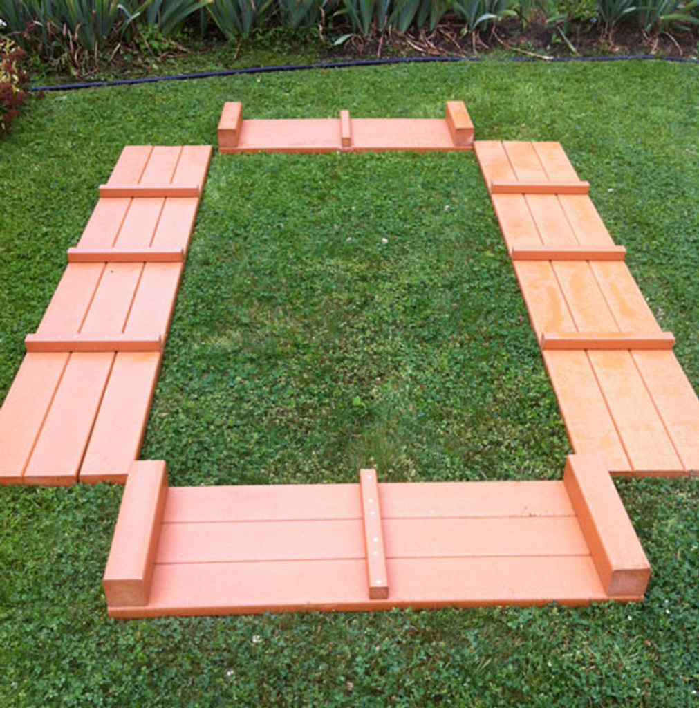 """Recycled Plastic Raised Garden Bed - 4' x 6' x 11"""""""