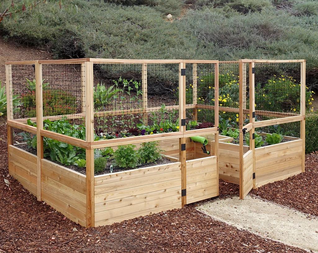 Deer Proof Cedar Complete Raised Garden Bed Kit - 12' x 8'