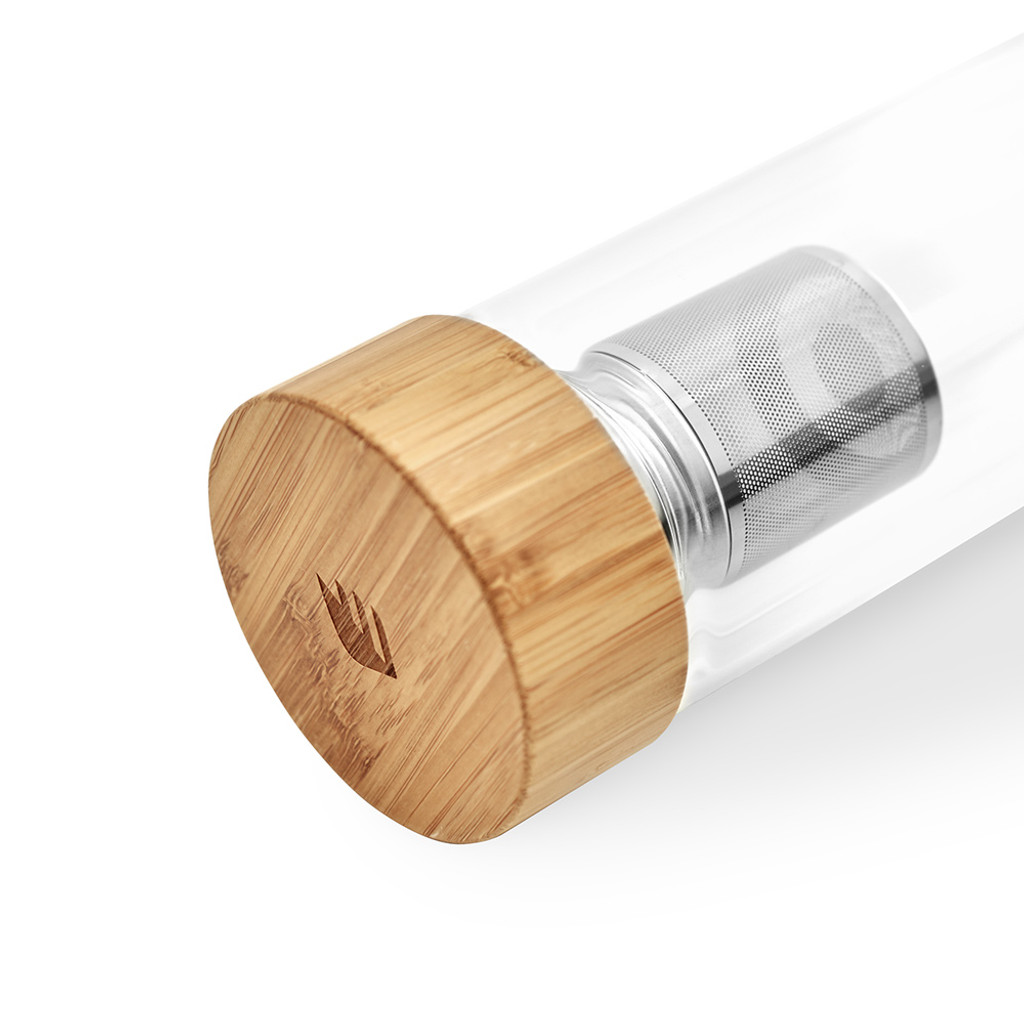 Leak proof bamboo lid with silicone interior