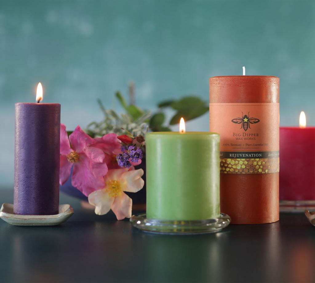 Pure Beeswax Aromatherapy Pillars