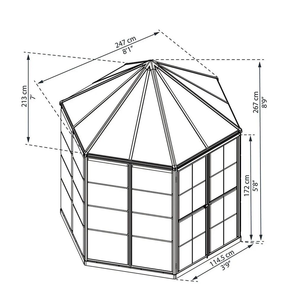 Oasis Hexagonal 8'
