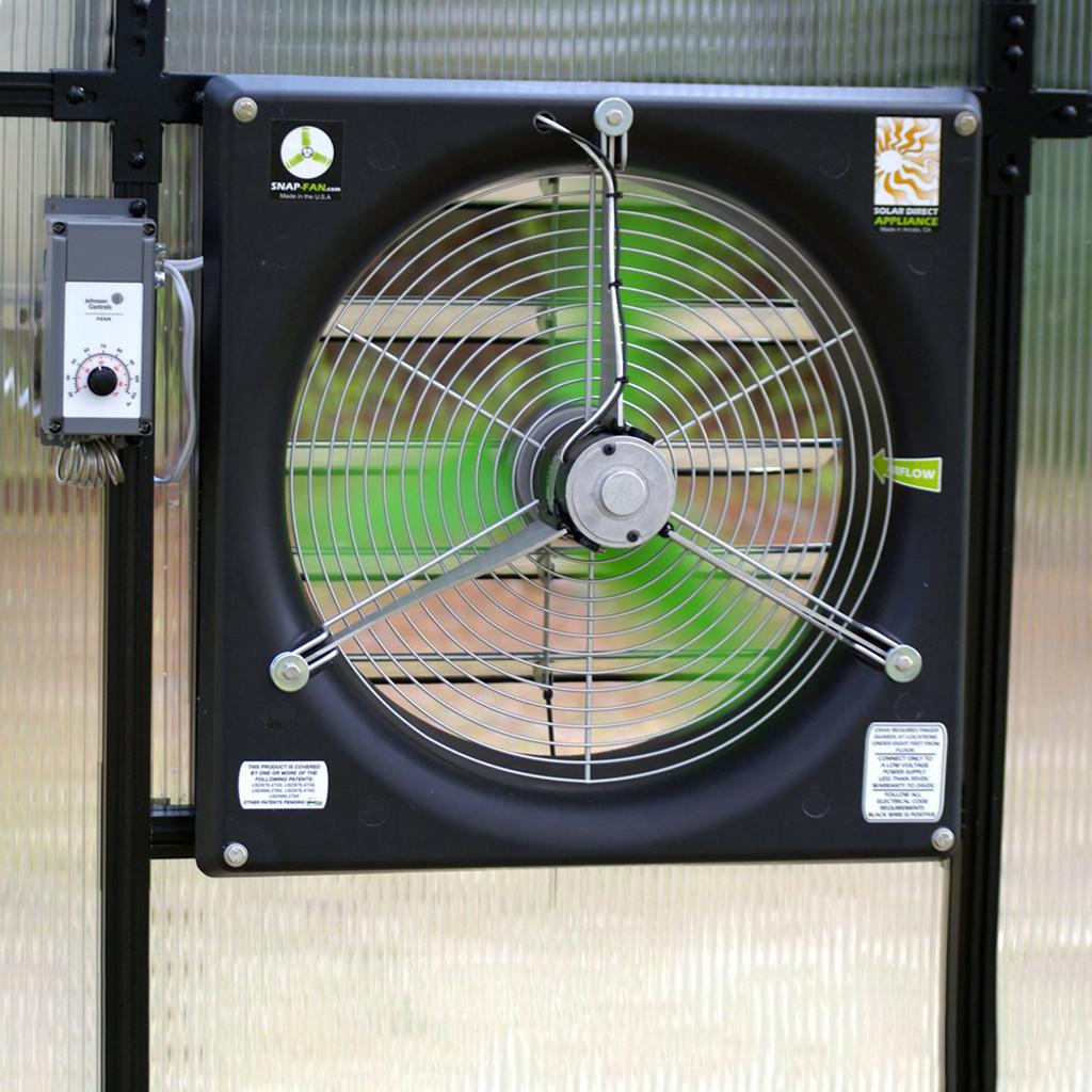 Solar Ventilation System - Fan & Thermostat