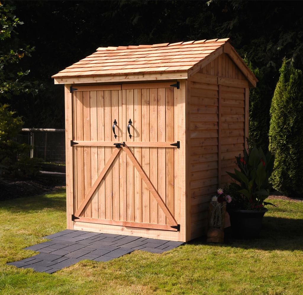 6' x 6' Maximizer Cedar Storage Shed