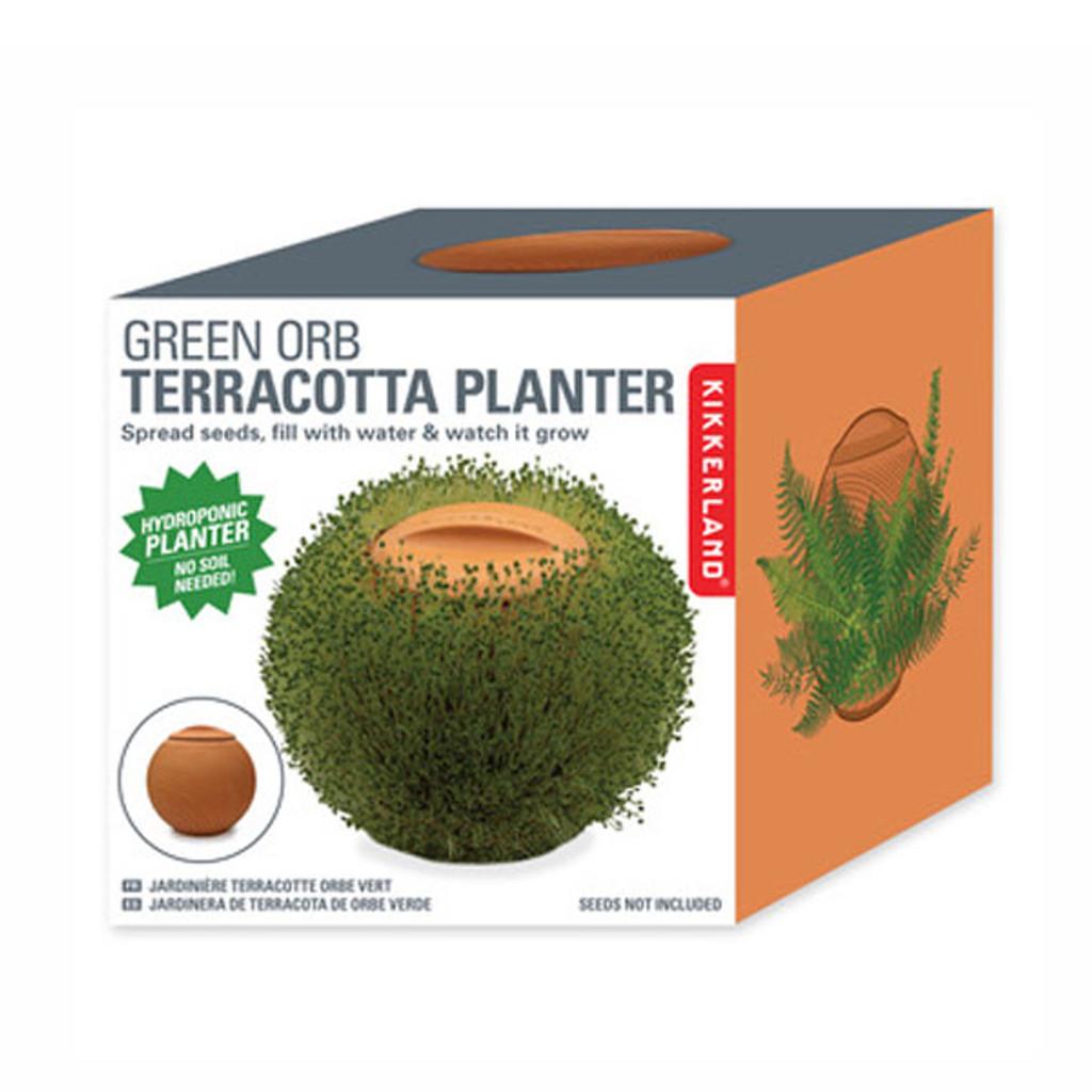 Green Orb Terracotta Planter